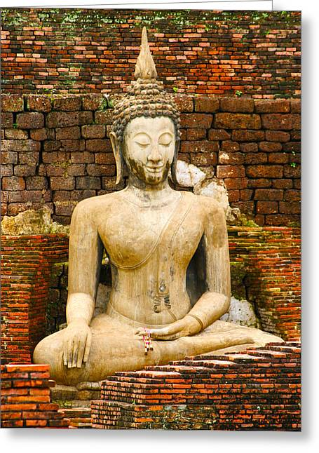 Sucuthai Buddha Greeting Card