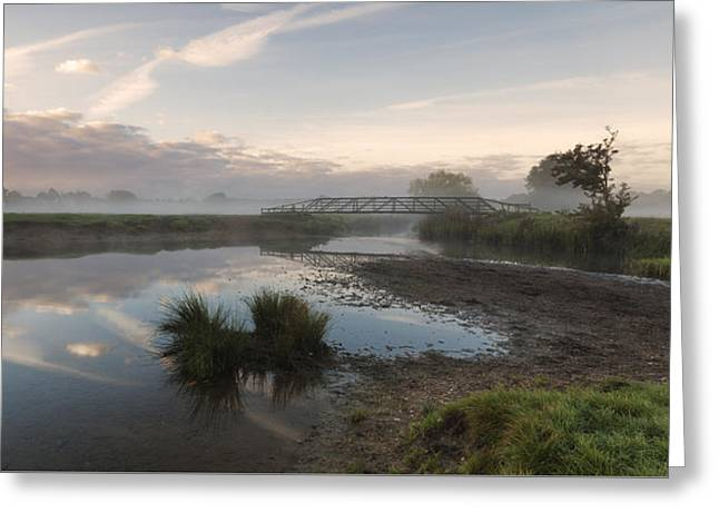 Sudbury Meadows Bridge Greeting Card by Ian Merton