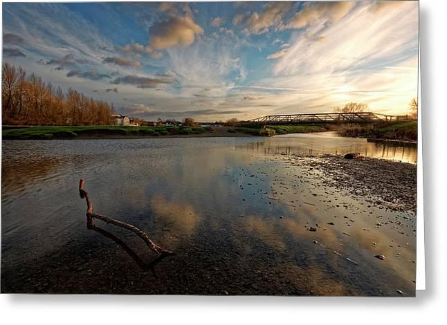 Sudbury Meadows Greeting Card by Ian Merton