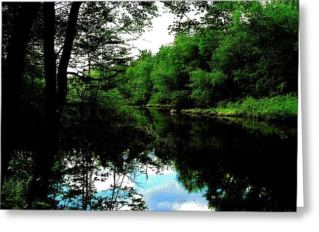 Sudbury River In Ashland Greeting Card by Cliff Wilson