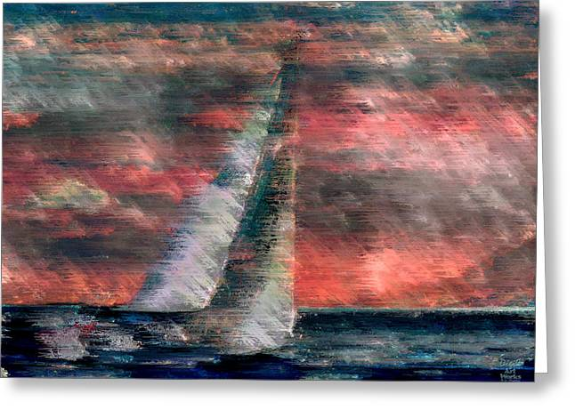 Ebsq Greeting Cards - Sudden Squall Greeting Card by Dee Flouton