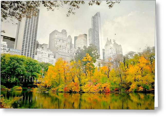 Suddenly Autumn Greeting Card by Diana Angstadt