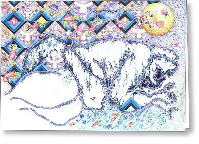 Suenos De Invierno Winter Dreams Greeting Card