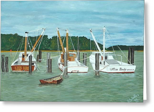 John Schuller Greeting Cards - Suffolk Fishing Boats Greeting Card by John Schuller