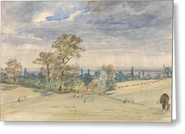 Suffolk Landscape Greeting Card by John Constable