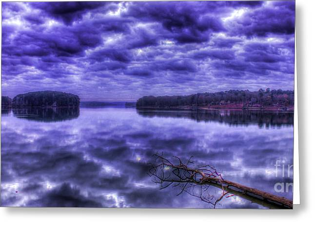 Greeting Card featuring the photograph Sugar Creek Reflections Lake Oconee Georgia Art by Reid Callaway