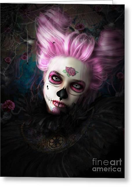 Sugar Doll Pink Greeting Card