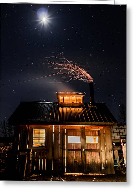 Sugar House At Night Greeting Card