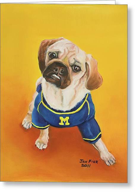 Mascot Paintings Greeting Cards - Sugar Greeting Card by Jan Fink