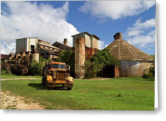 Sugar Mill And Truck Greeting Card by Roger Mullenhour