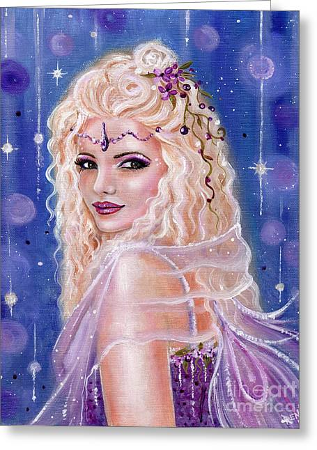 Sugar Plum Fairy  Greeting Card by Renee Lavoie