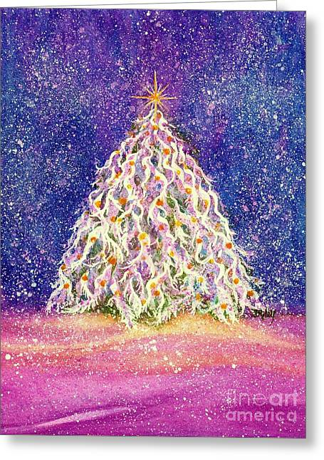 Sugar Plum Forest  - Christmas Tree Greeting Card