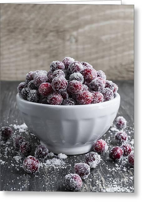 Sugared Cranberries Greeting Card by Elena Elisseeva