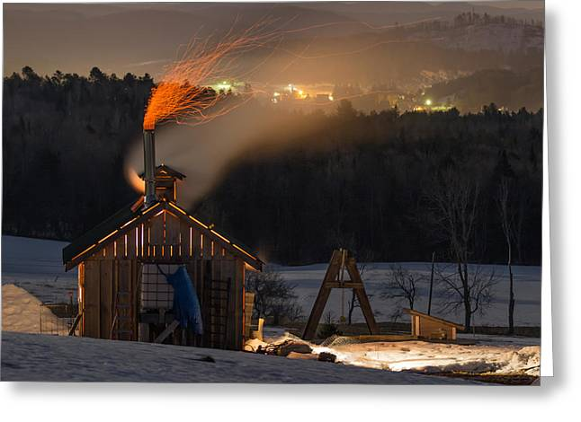 Sugaring View Greeting Card