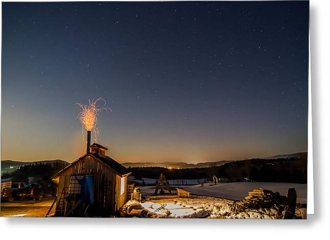 Sugaring View With Stars Greeting Card
