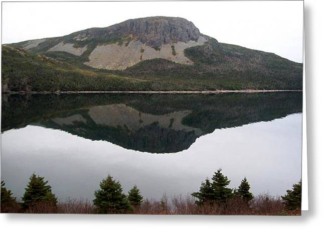 Sugarloaf Hill Reflections Greeting Card by Barbara Griffin