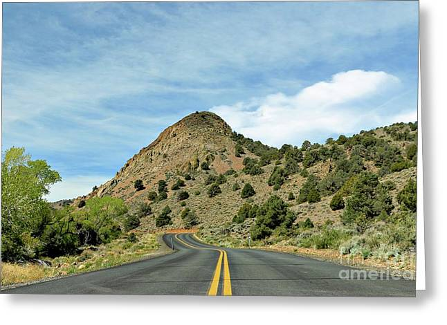 Greeting Card featuring the photograph Sugarloaf Mountain In Six Mile Canyon by Benanne Stiens