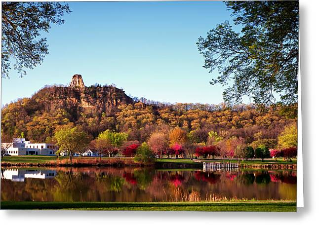 Sugarloaf Reflection Greeting Card