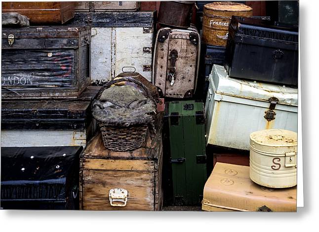 Suitcases Greeting Card by Joana Kruse