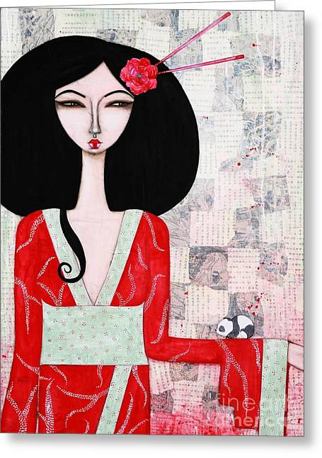 Suki Greeting Card by Natalie Briney