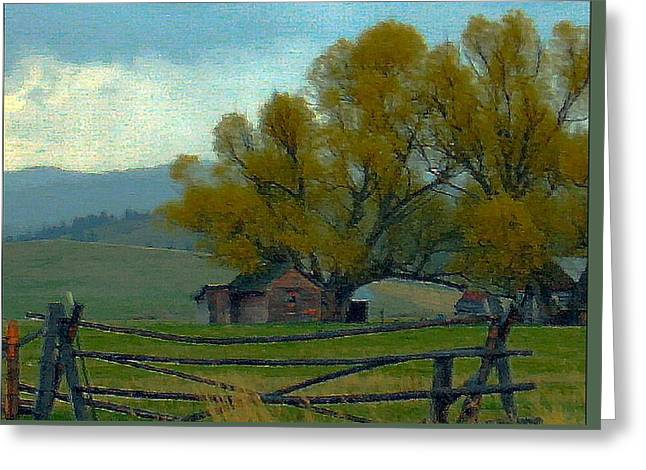 Sula Montana Homestead Greeting Card by Robert Morrissey