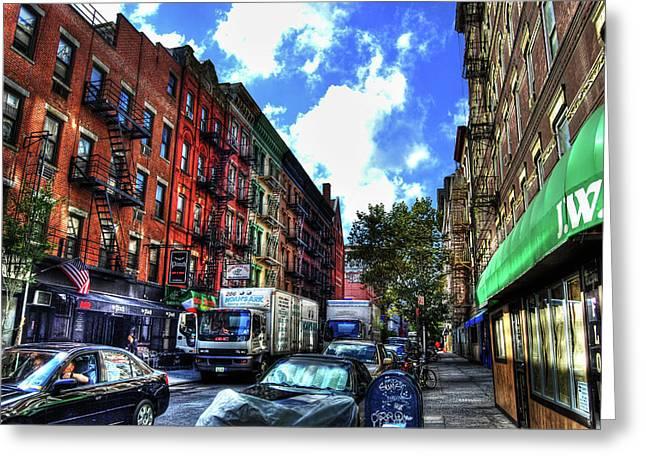 Sullivan Street In Greenwich Village Greeting Card by Randy Aveille