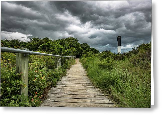 Sullivan's Island Summer Storm Clouds Greeting Card