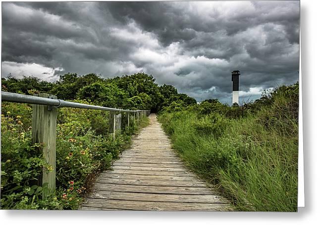 Sullivan's Island Summer Storm Clouds Greeting Card