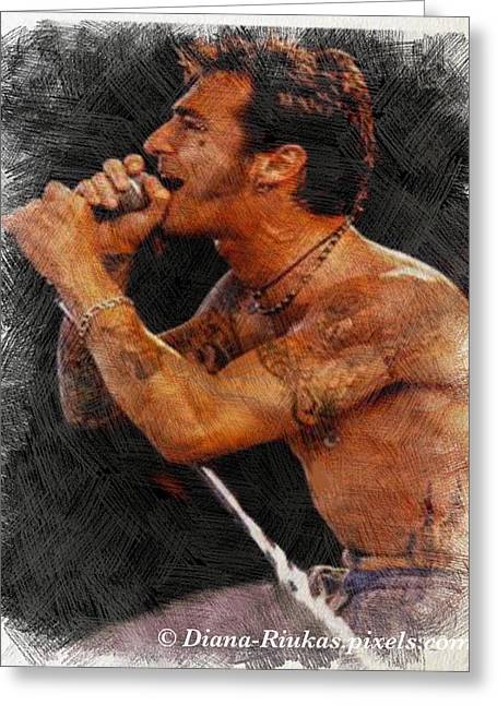 Sully Erna Singing Greeting Card