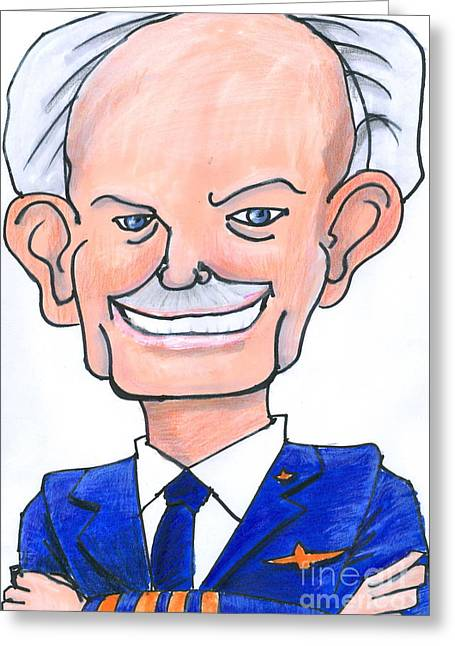 Sully Sullenberger Caricature Greeting Card by Stan Levine