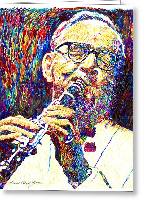 Best Selling Paintings Greeting Cards - Sultan of Swing - Benny Goodman Greeting Card by David Lloyd Glover