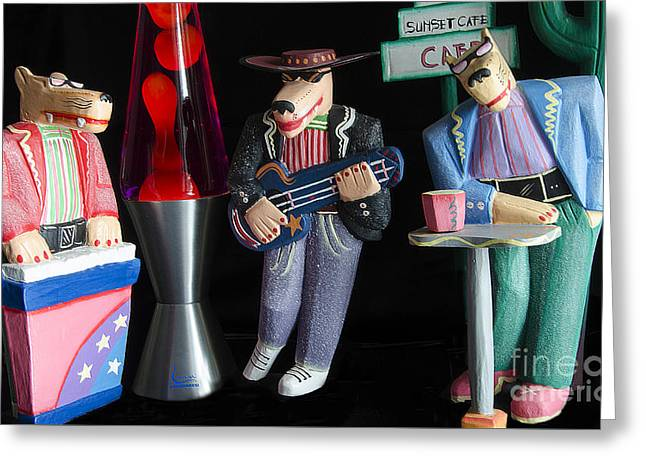 Sultans Of Swing Greeting Card by Bob Christopher