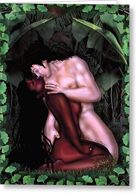 Sultry Nude Spring Greeting Card by Robina Kaira