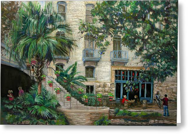 Sultry San Antonio Greeting Card by Carole Haslock