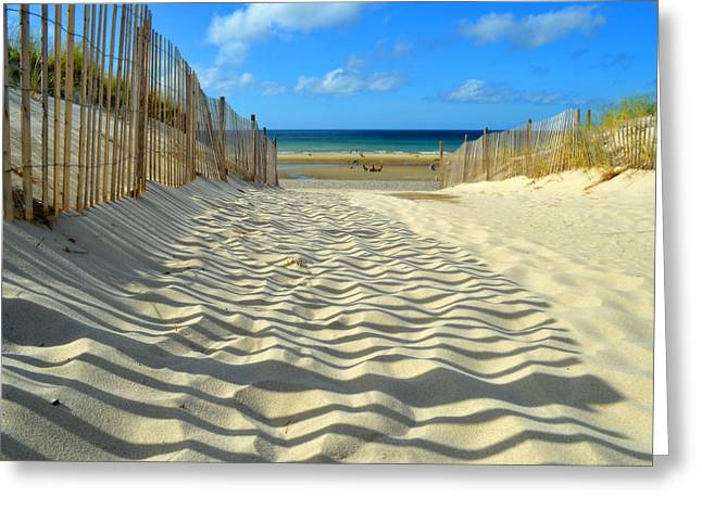 Sultry September Beach Greeting Card by Dianne Cowen