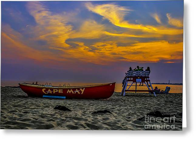 Summer Sunset In Cape May Nj Greeting Card by Nick Zelinsky