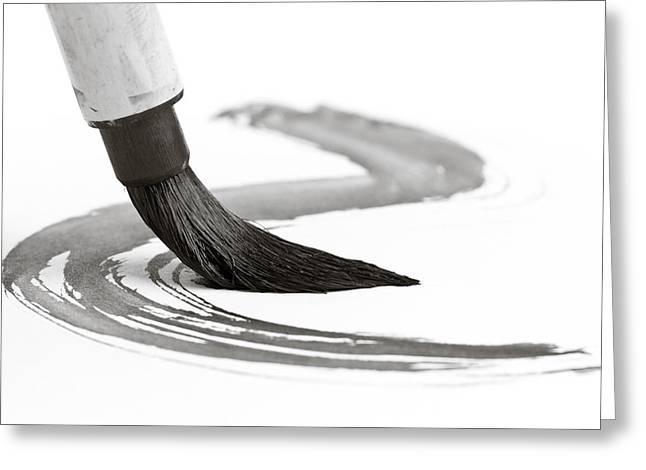 Sumi-e Brush 2 Greeting Card by Edward Myers