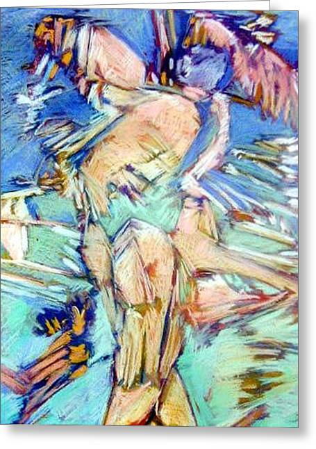 Figural Pastels Greeting Cards - Summer 1 Greeting Card by Michal Rezanka