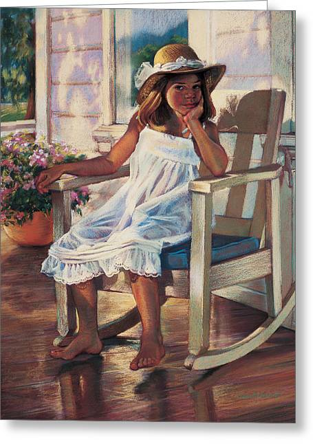 Summer Afternoon Greeting Card by Jean Hildebrant