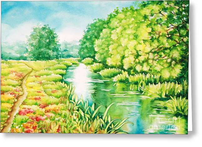 Summer Along The Creek Greeting Card
