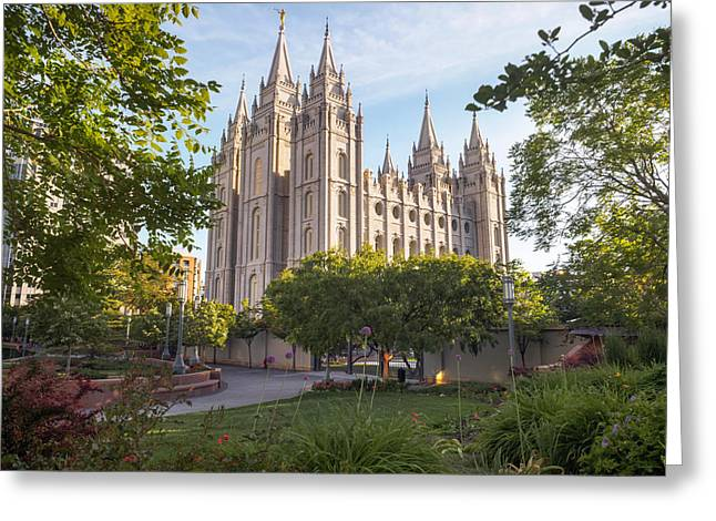 Summer At Temple Square Greeting Card