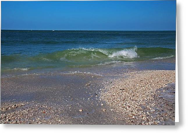Greeting Card featuring the photograph Summer At The Shore by Michiale Schneider