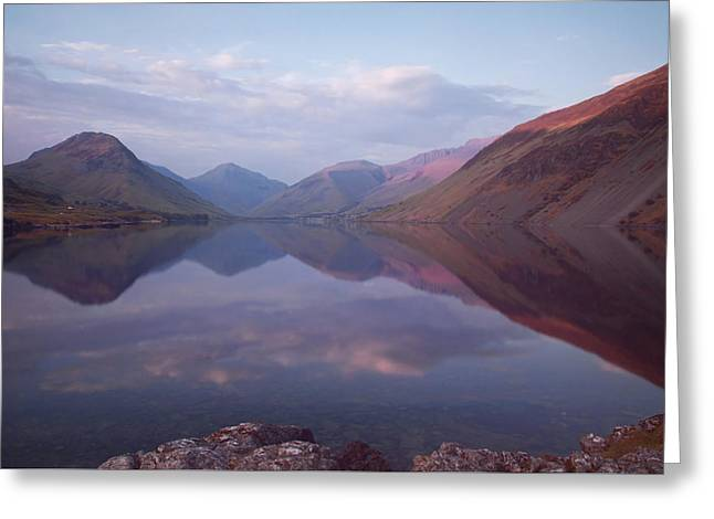 Summer At Wastwater In Cumbria Greeting Card by Pete Hemington