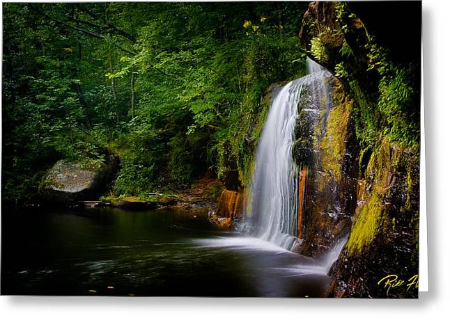 Greeting Card featuring the photograph Summer At Wolf Creek Falls by Rikk Flohr