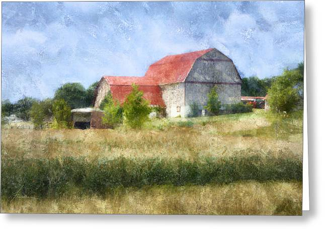 Summer Barn Greeting Card by Francesa Miller