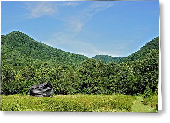 Summer Barn Greeting Card by Susan Leggett