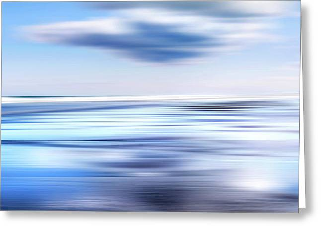 Summer Beach Blues Greeting Card by Bill Wakeley