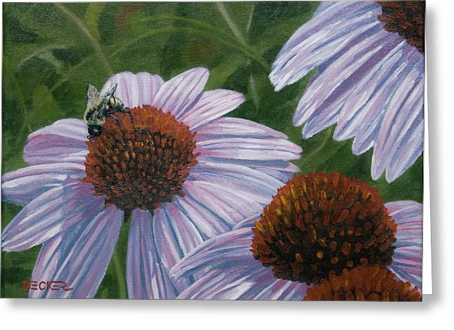 Greeting Card featuring the painting Summer Bees I by Robert Decker