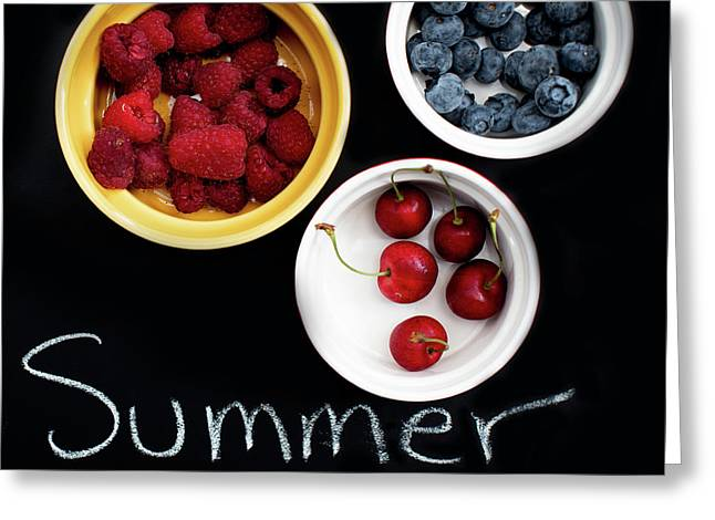 Greeting Card featuring the photograph Summer Berries by Rebecca Cozart