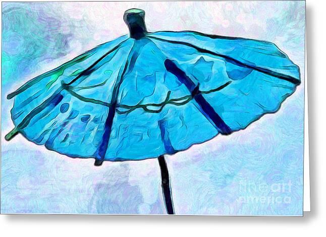 Summer Blues Greeting Card by Krissy Katsimbras